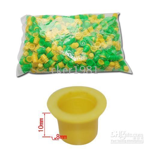 Wholesale Lastest low price green yellow plastic mm mm small ink cup for tattoo supply wholesales