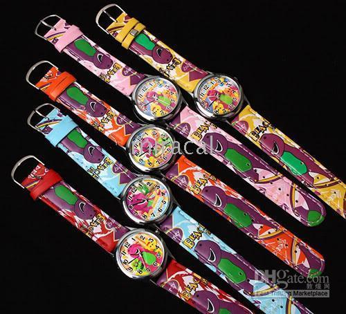 Children's barney kid - 50pcs Barney Cartoon Watch Boy Girls Kids Fashion Quartz Wristwatches Children School Watches