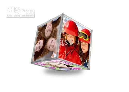 Wholesale Christmas Gift Magic Floating Photo Frame Cube For Pictures wedding gift