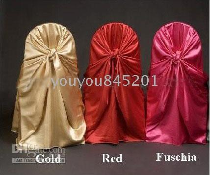 Wholesale Satin Universal Chair Covers For Wedding Party Hotel