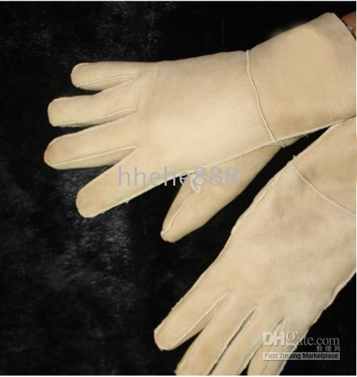 Wholesale brand available Men s women s Real Sheepskin glove gloves with logo box AA124