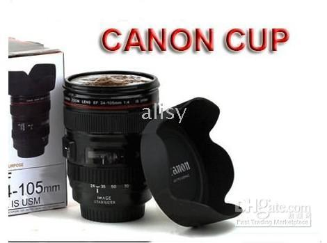Plastic plastic lens - Hot NEW EF mm food grade plastic coffe cup mug for canon lens from alisy