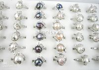 Wholesale sterling silver plated freshwater pearl ring rings amp gemstone jewelry jewellery