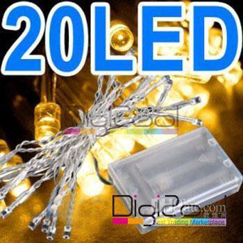 Wholesale 200pcs BATTERY power Warm White LED MINI FAIRY Xmas LIGHT new