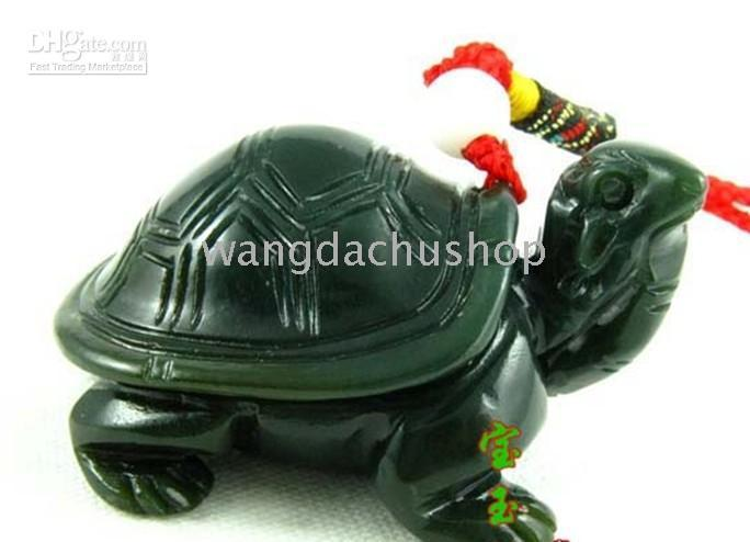 Wholesale And nephrite pendant jade turtle pendant longevity long life