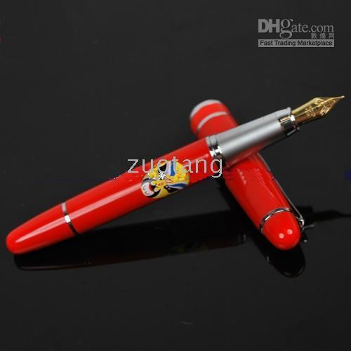 Red Calligraphy & Fountain Pens  Gift Fountain Pen China style Red Porcelain Fountain Pens and Gift Box 10pcs