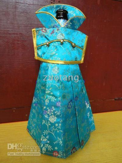gorgeous fabrics - Decor Wine Bag Bottle Covers Chinese Silk Fabric Color Gorgeous Wine Bottle Bags mix Free