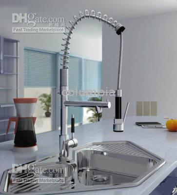 Wholesale KT Brand new Luxury Pull Out Spray Kitchen Sink Faucet Mixer Tap