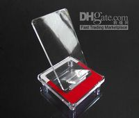 Wholesale Acrylic blue red black yellow mobile phone holder show shelf cell phone stand mix order