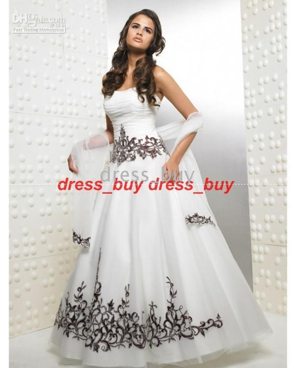 Strapless Sexy Beads Black And White Quinceanera Dress Prom Ball ...