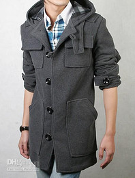 Wholesale primcycl new medium long style Outerwear wool coat windbreaker Men s Trench Coats