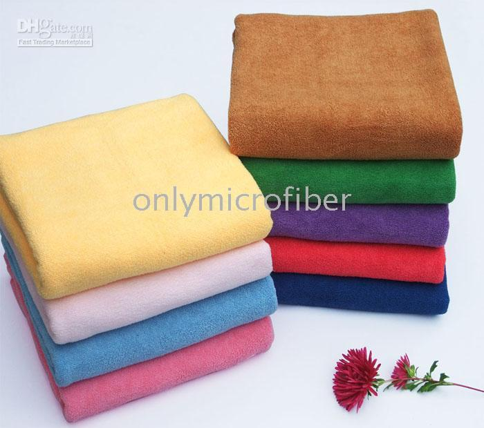 Wholesale 5PC x140cm Microfiber Bath Drying Towel Spa Wrap Ultra Absorbent Microfibre Travel Camping Towels