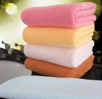 Wholesale 5PC cmx150cm Large Microfiber Bath Sheet Beach Towel Microfibre Towels Absorbent Travel Dry Cloth