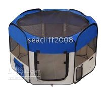 Wholesale INCH PET TENT DOG PUPPY PLAYPEN EXERCISE PEN KENNEL BLUE
