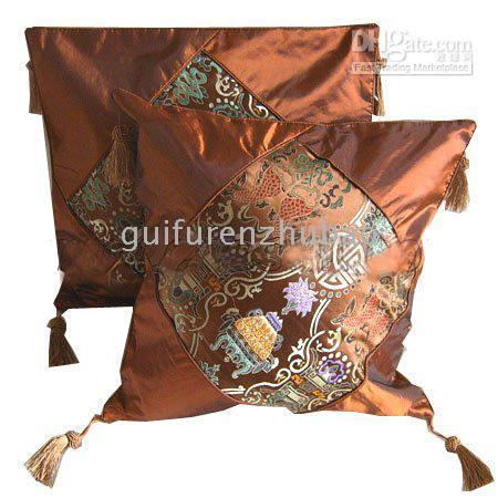 Wholesale China Silk Pillow Cover Fashion Sofa Pillow Covers Home Decor Pillows Cover pair Free