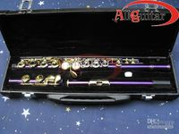 Closed 17  2PCS Bight Purple Flute with case professional Woodwind NEW Arrival