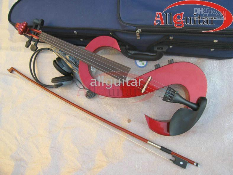 Wholesale Electric Violin Outfit red New arrival practical with case