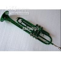 Wholesale Green professional trumpet great sound metal new technique