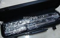 Wholesale Awesome key Music Instrument Flute Silvery color Fast shipping