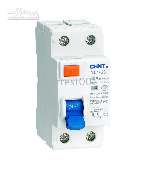 Wholesale Residual Circuit Breaker CHINT CHNT NL1 series Modular DIN Rail Products RCCB