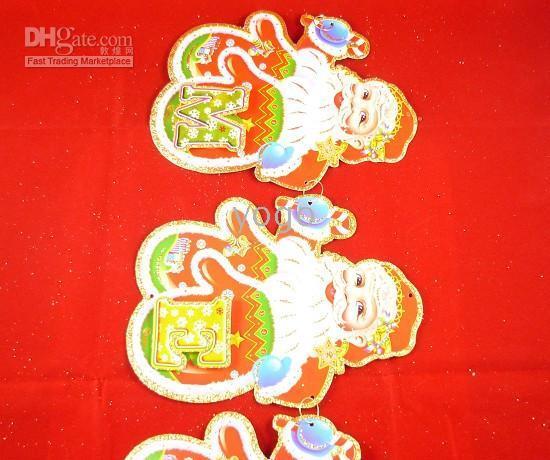 Wholesale Christmas Decoration Santa Claus Bells Paper Crafts Christmas Ornaments Mix Designs