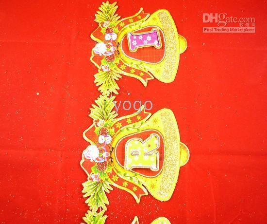 Wholesale Christmas Decoration Accessories Santa Claus Bells Paper Crafts Christmas Ornaments Mix Designs