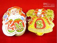 Wholesale Christmas Hanging Decoration Santa Claus Bells Paper Crafts Christmas Ornaments Mix Designs