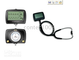 CE Approved Multi-function Visual Electric Stethoscope + free SPO2