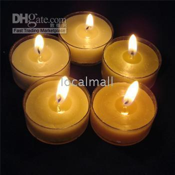 Wholesale Brand New Cute Romantic Happy Green Tea Lights Scent Wax Candle