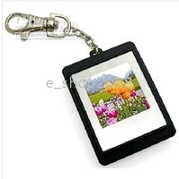 Wholesale 1 quot Inch CSTN Screen USB Digital Photo Frame Plastic Cute blockage with keychain free dropship