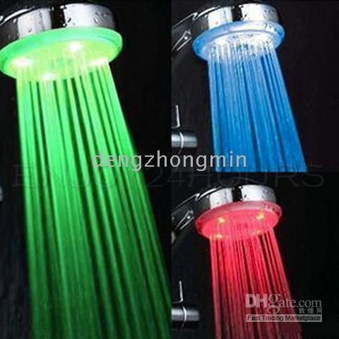 Wholesale New Color Chaging LED Light Shower Head Home Bath