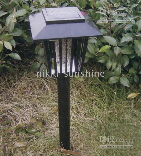 Wholesale LED Garden Lights Solar Ground Powered Pest Killer Mosquito Repeller Landscape Zapper Light