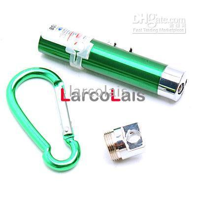 Wholesale 2 LED Laser Pointer Keychain Torch Flashlight Green LQFL1714