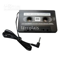 Wholesale 3 mm CPA Car Audio Cassette Adapter for iPod MP3 CD Phone TQIA9020