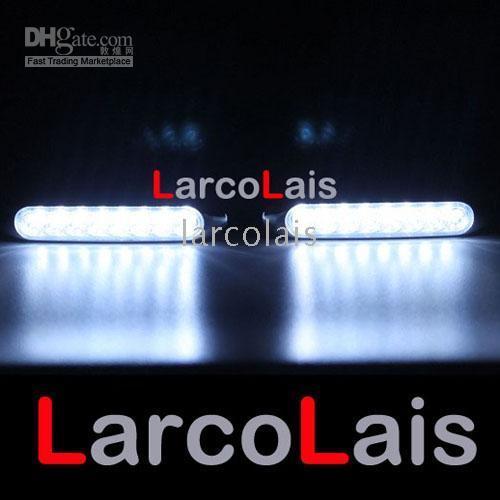 8 LED White 12V 2x8 Led Car Truck DRL Daytime Running Lights Day Driving Fog Universal Light 2 x 8 White DLCL8657