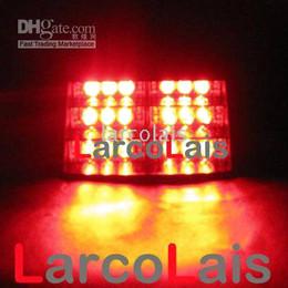 Red 18 LED Strobe Flash Warning Police EMS Car Truck Light Flashing Firemen Fog Lights 18LED Light Lamp