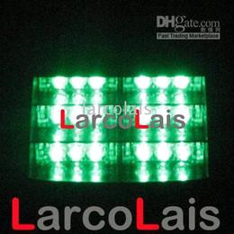 Green 18 LED Strobe Flash Lamp Warning Police 18LED EMS Car Truck Light Flashing Firemen Fog Lights