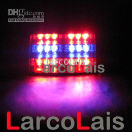 Red Blue 18 LED Strobe Lamp Flash Warning Police EMS LED Car Truck Light Flashing Firemen Fog Lights 18LED
