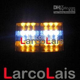 Amber White 18 LED Strobe Lamp LED Flash Warning Police EMS Car Truck Light Flashing Firemen Fog Lights 18LED