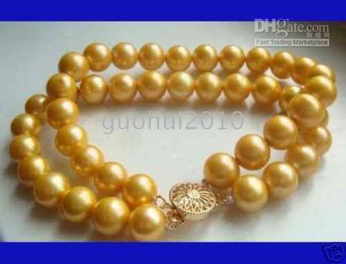 Wholesale 2 row noblest attractive yellow akoya pearl bracelet