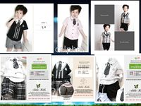 Wholesale Amissa Boy suits designs Knitting fake two coat tatting pants tie pre order ship nov th