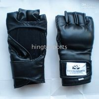 Wholesale Open Thumb Grappling Gloves Boxing Sport Fighting Glove Black Regular Size Boxer Training Kickboxing