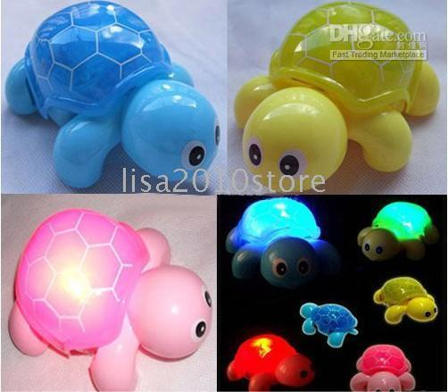 baby bump gifts - 3X Mixed Colors Music Light Bump Baby Go Action Tortoise Turtle Toy Christmas New Year Gifts