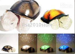 Wholesale 2 Pieces Xmas Twilight Turtle Night Light Stars Lamp Baby Care Gifts