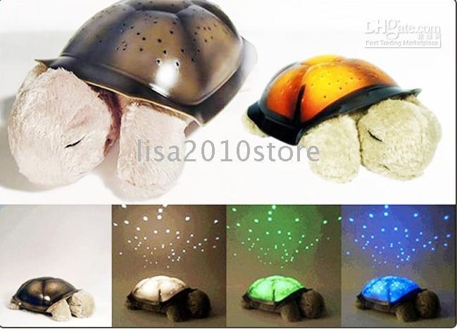 Wholesale 2 Pieces Xmas Twilight Turtle Night Light Stars Lamp Baby Care Gifts