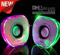 Wholesale chrismas gift mini crystal LED Apple USB Desktop Speakers computer fashion USB Speakers for iPOD