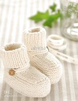 Handknit crochet baby first walker shoes cotton yarn booties...