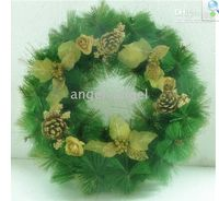 Wholesale Christmas Ornaments Christmas wreath Luxury Christmas tree ornaments hanging ring CM