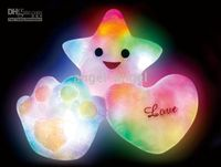 Wholesale 10pcs New The Christmas gifts Colorful LED Pillow luck heart shaped pillow Home Decor