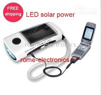 Cheap Wholesale - Brand New LED solar power flashlight torch mobile Phone Charger 30pcs lot